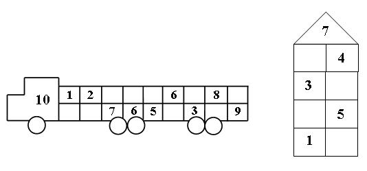 познакомить с составом чисел 7 и 8 из единиц