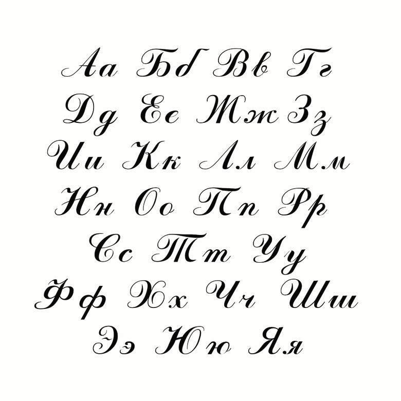 Алфавит красивые буквы для открыток